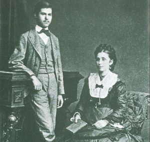 old photograph of posing couple