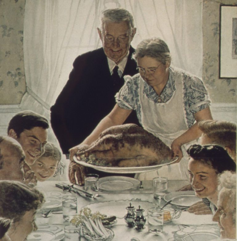 Freedom from Want picture by Norman Rockwell