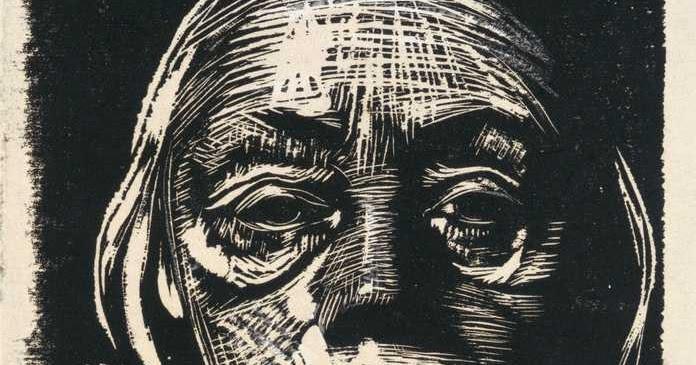 drawing of man's face close up