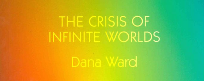 the crisis of infinite worlds title with rainbow background