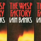 The Wasp Factory cover in a repeated pattern