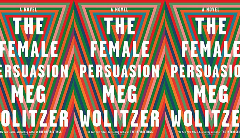 The Female Persuasion cover in a repeated pattern