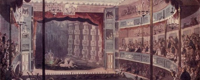 audience watching a show in a London theatre