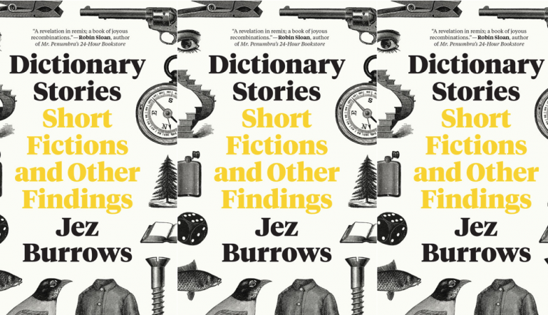 Dictionary Stories cover in a repeated pattern