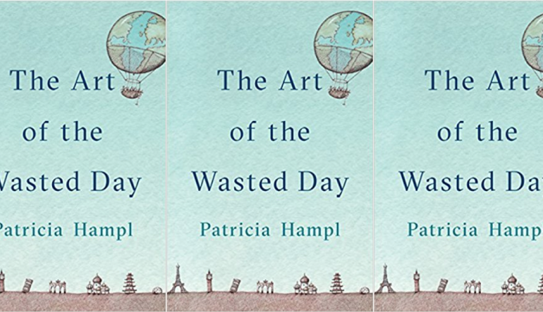 The Art of the Wasted Day book cover in a repeated pattern