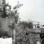 black and white photograph of James Baldwin in Saint-Paul-de-Vence