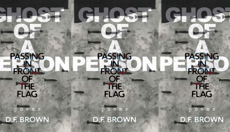 Ghost of a Person Passing in Front of the Flag cover in a repeated pattern
