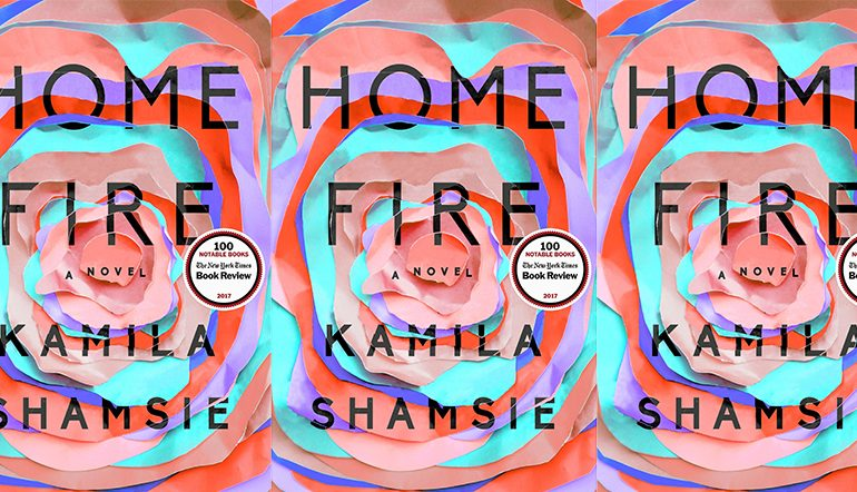 Home Fire cover in a repeated pattern