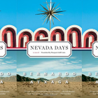 Nevada Days cover in a repeated pattern