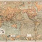 1870 Baur and Bromme Map of the World