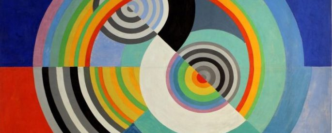 colorful abstract spiral/cocentric circles