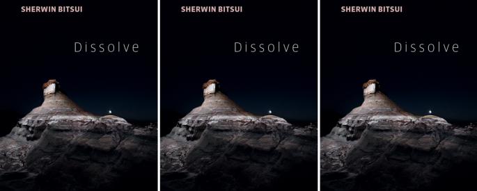 Cover art for Sherwin Bitsui's Dissolve