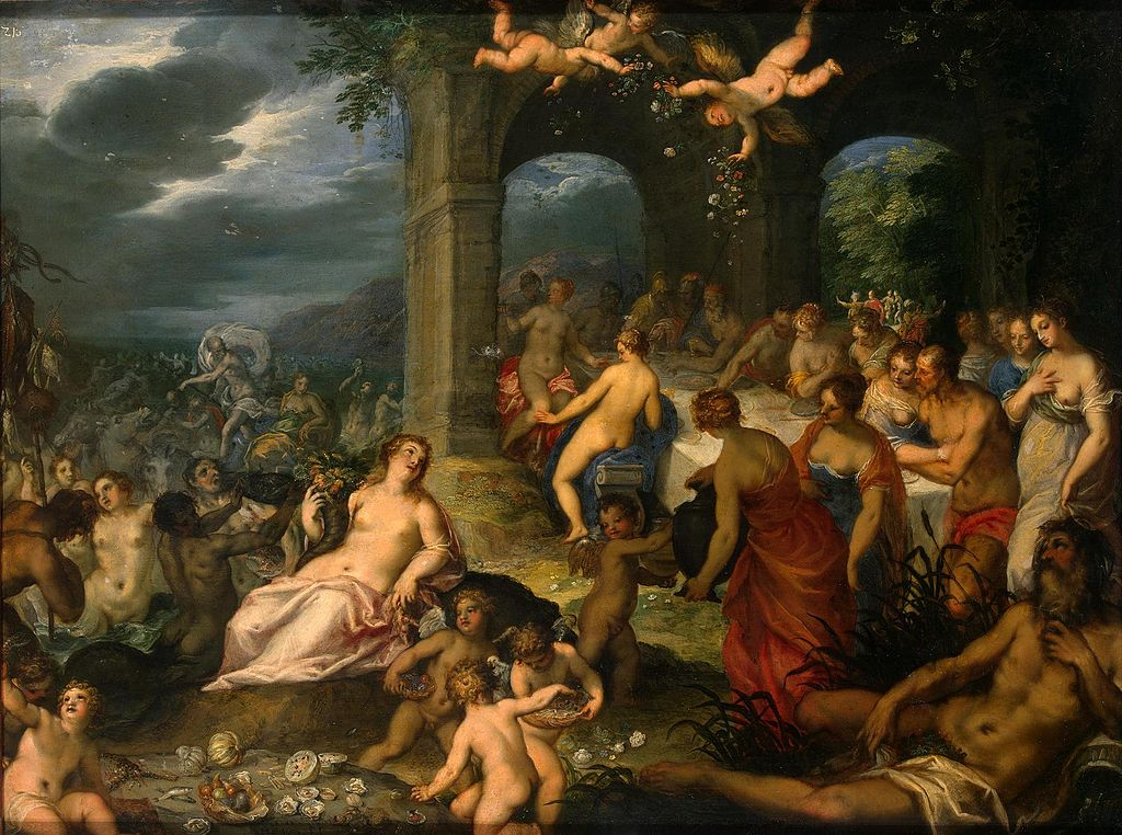 Image of Hans Rottenhammer's painting Feast of the Gods