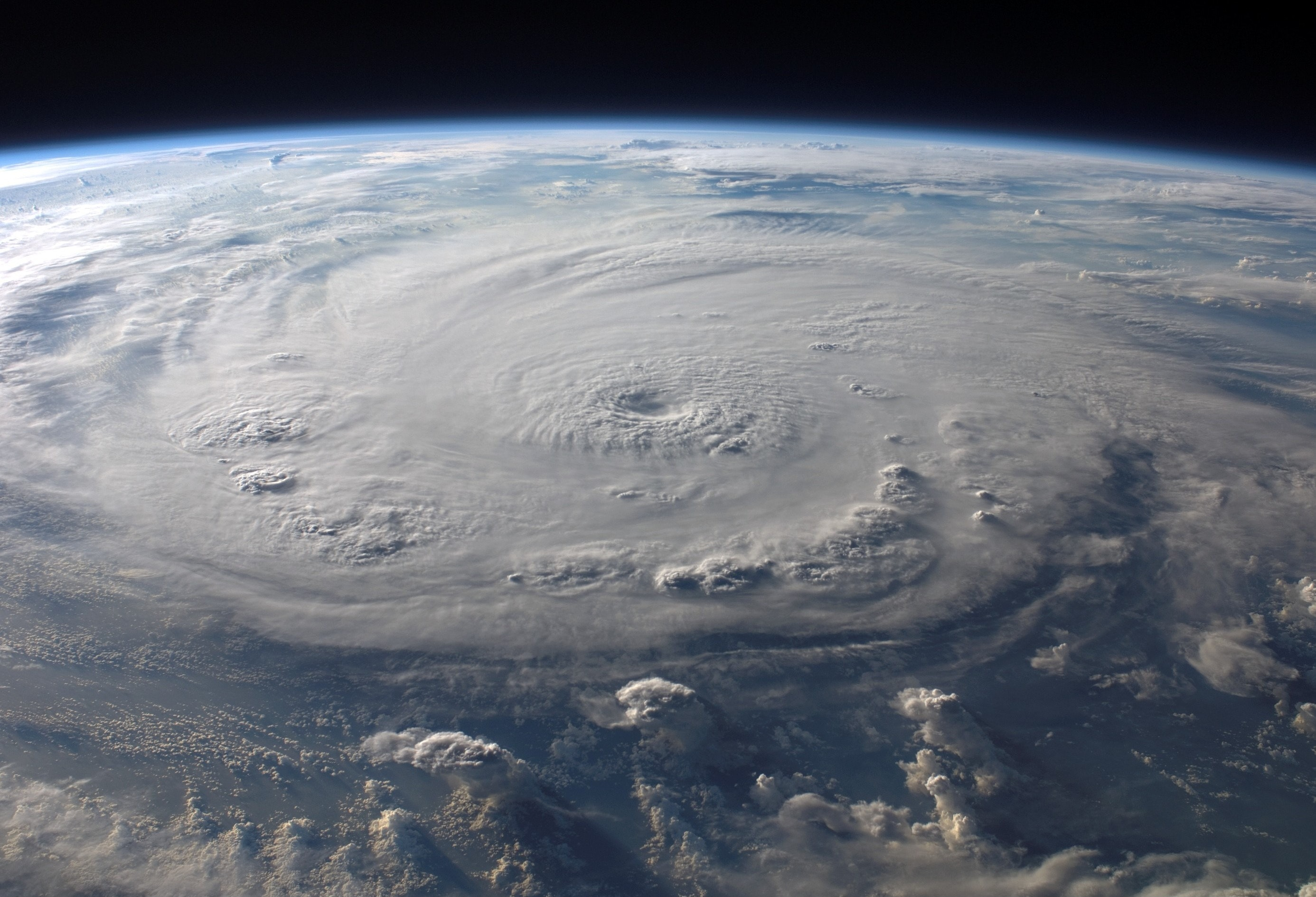 Photograph of a hurricane from space