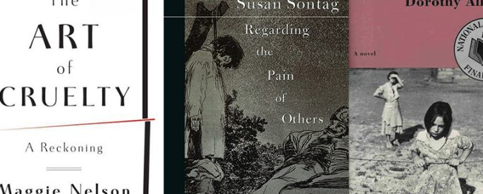 Book covers of books by Susan Sontag, Maggie Nelson, and Dorothy Allison