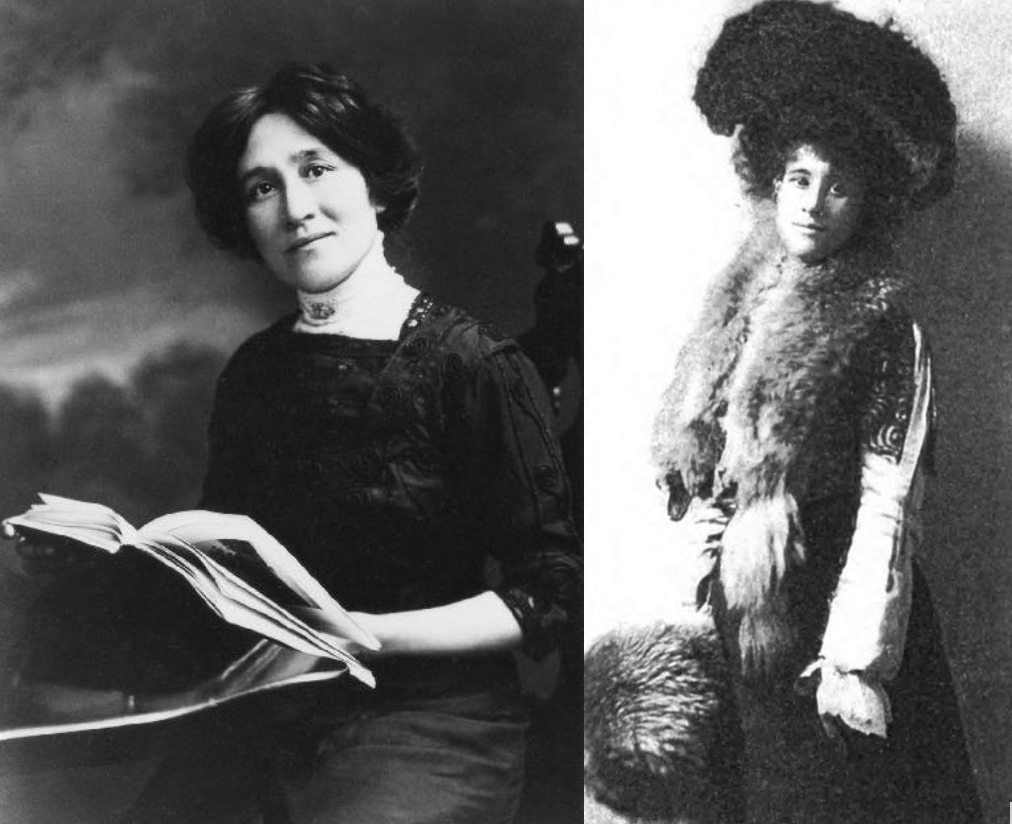 Photographs of Edith Maud Eaton (left) and Winnifred Eaton (right).