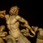 A photograph of a Greek statue