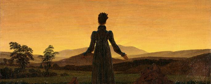 Caspar David Friedrich's painting, Frau vor untergehender Sonne