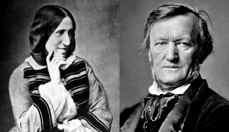 Portraits of George Eliot and Richard Wagner