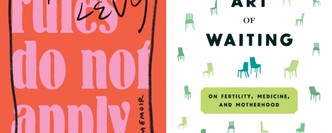 The covers for The Rules Do Not Apply and The Art of Waiting side-by-side.