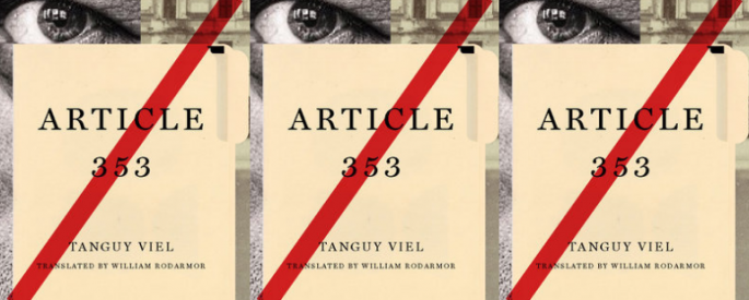 The cover of the novel Article 353 side by side.