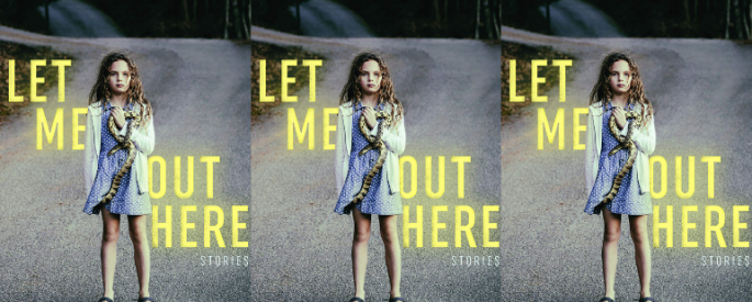 The cover of LET ME OUT HERE side by side by side.