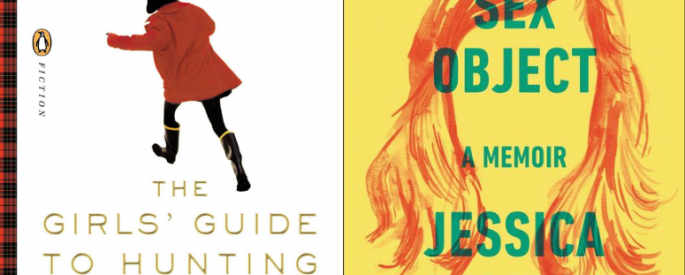 "The covers of ""The Girls Guide to Hunting and Fishing"" and ""Sex Object: A Memoir"" side by side."