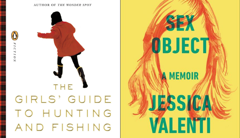 """The covers of """"The Girls Guide to Hunting and Fishing"""" and """"Sex Object: A Memoir"""" side by side."""