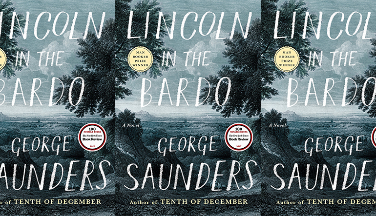 The cover for Lincoln in the Bardo