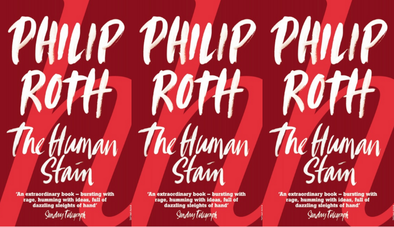 The cover of The Human Stain side by side.