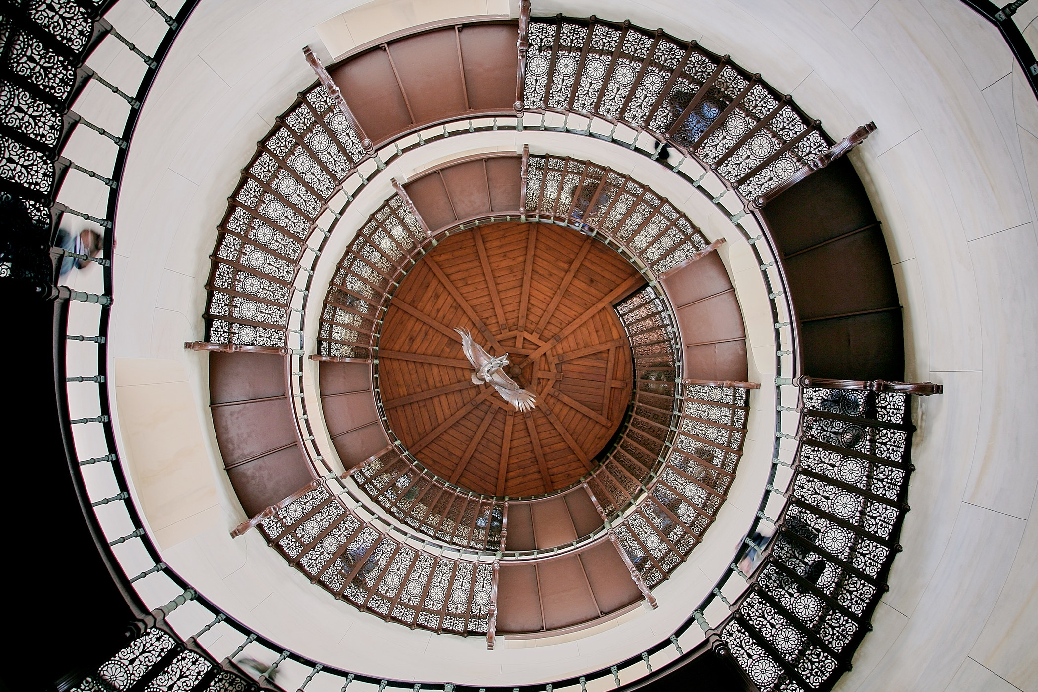 Top view from a spiral staircase.