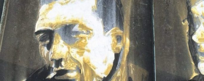 Painting of Albert Camus