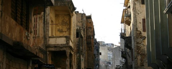 Beirut building from before the civil war