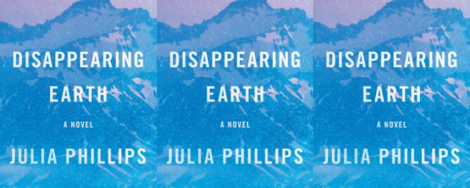 The cover for Julia Phillips' Disappearing Earth side by side.