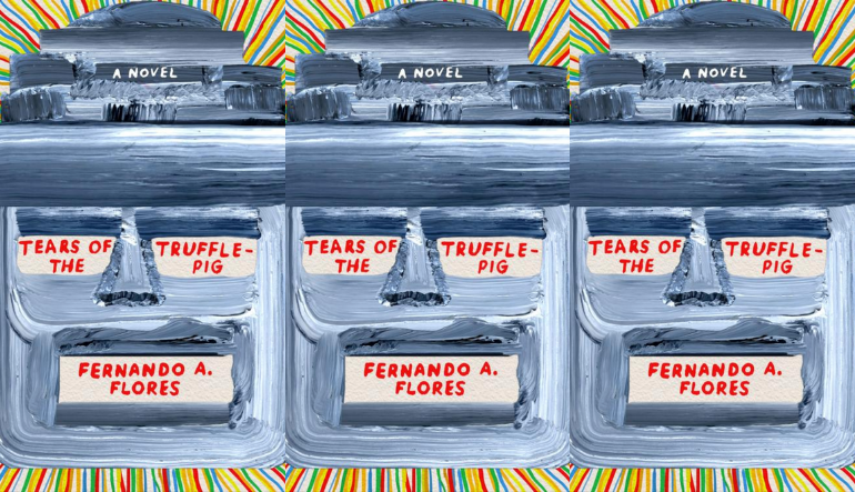 The cover of The Tears of the Truffle-Pig side by side.