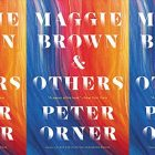 "Abstract gradient from blue and purple to reds and oranges book cover reading ""Maggie Brown & Others: Stories"" by Peter Orner"