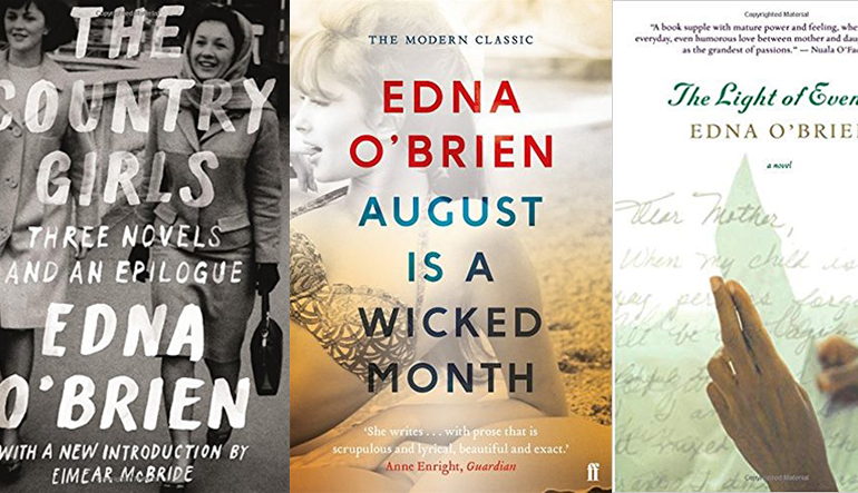 Book covers of works by Edna O'Brien