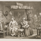 an engraving by William Hogart featuring Moll