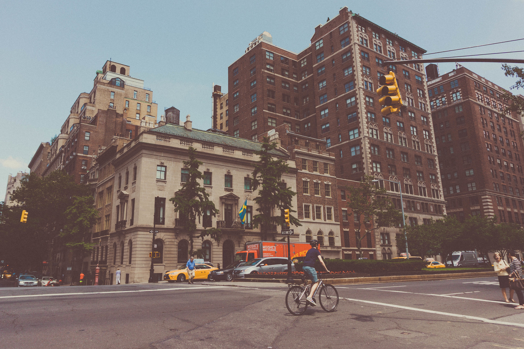 a photograph of the Upper East Side of New York City