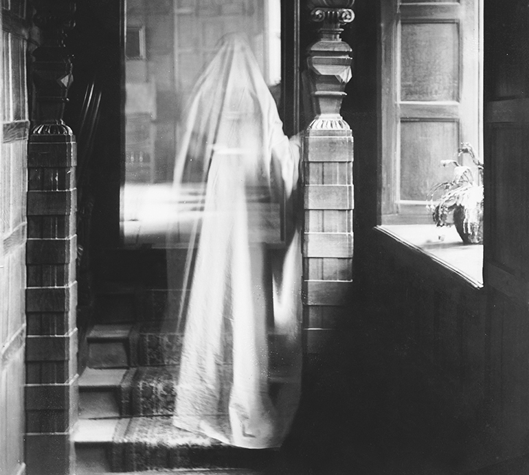 a photograph from 1899 that appears to include a ghost