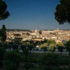 as photograph of Rome taken from a hill