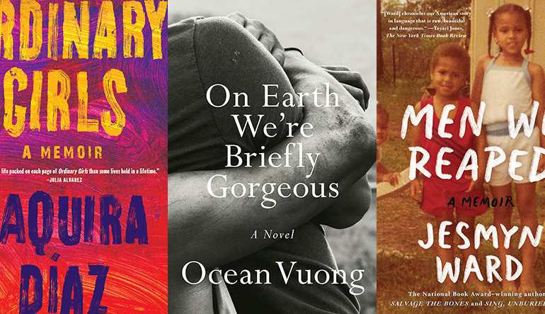 the book covers of Ordinary Girls, On Earth We're Briefly Gorgeous, and Men We Reaped