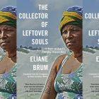 the book cover for The Collector of Leftover Souls which features a woman looking into the distance