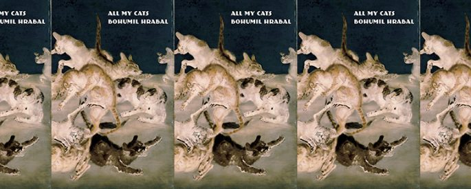 the book cover for All My Cats featuring a painting of many cats in a pile