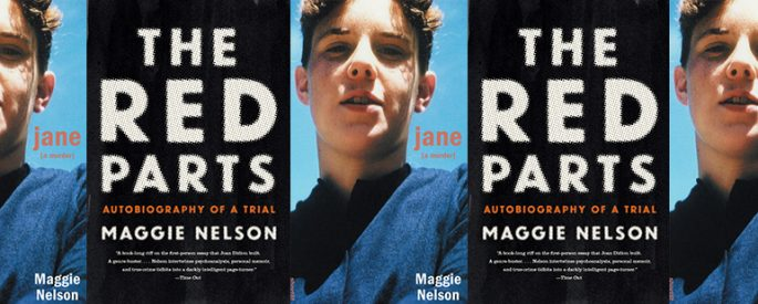 the book covers for Jane and The Red Parts by Maggie Nelson