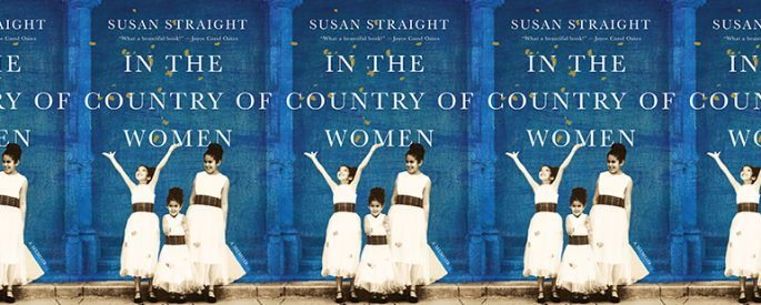 the book cover of In the Country of Women featuring three young girls in dresses