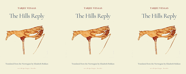 the book cover for The Hills Reply featuring a tan minimal illustration of a horse