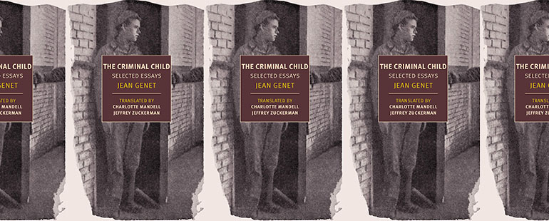 side by side series of the cover of jean genet's the criminal child