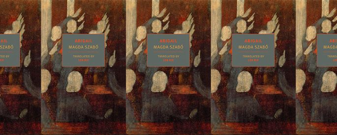 side by side series of the cover of Szabo's Abigail