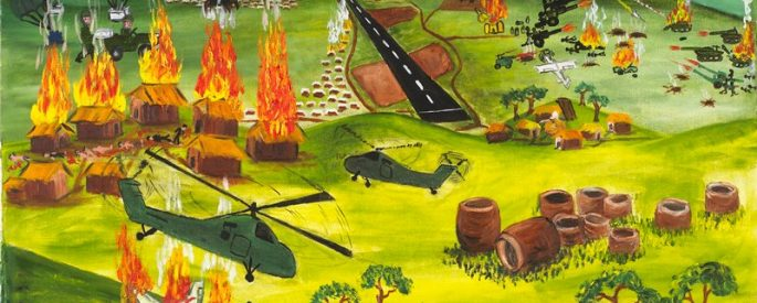 "a painting of the ""Secret War"""